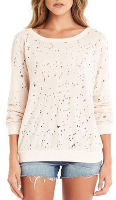 Women's Michael Stars Ripped Sweatshirt $98 thestylecure.com