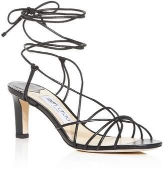 b34cd92b710 Jimmy Choo Women s Tao 65 Ankle-Tie Mid-Heel Sandals