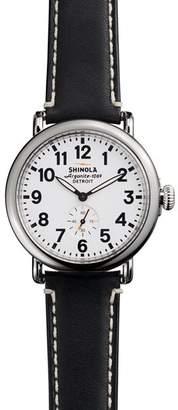 Shinola The Runwell Black Strap Watch, 41mm