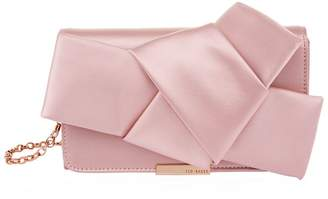 Ted Baker Feefee Satin Bow Clutch Bag