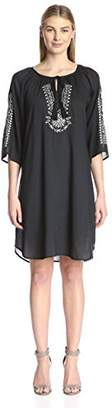 James & Erin Women's Embroidered Peasant Dress