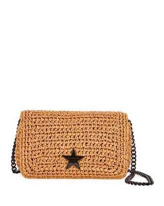 Stella McCartney Small Stella Star Raffia Crochet Shoulder Bag