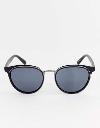 Esprit round sunglasses in black