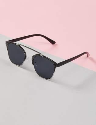 Lane Bryant Studded Brow Bar Sunglasses