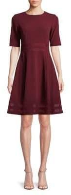 Calvin Klein Short-Sleeve A-Line Dress