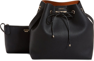 GUESS Bobbi Inside Out Large Drawstring Bag $98 thestylecure.com