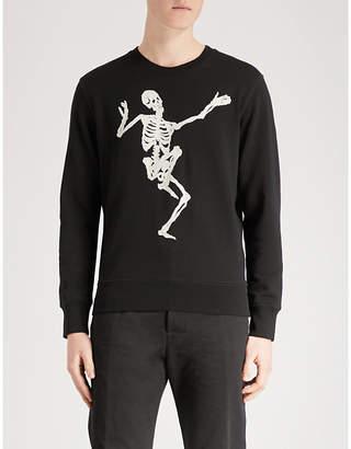 Alexander McQueen Dancing Skeleton cotton-jersey sweatshirt