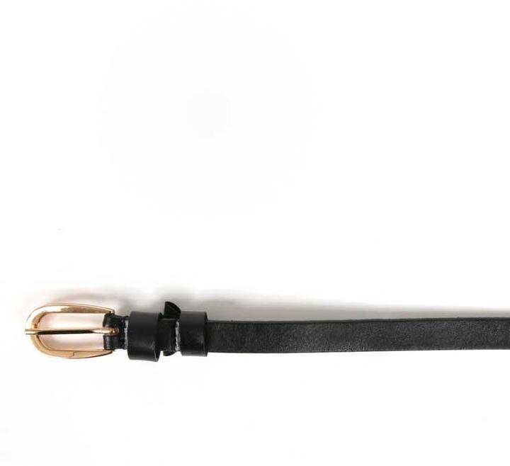 Elise M. Natalie Skinny Waist Belt in Black