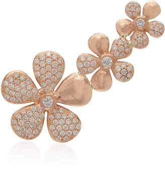 Colette Jewelry Floral 18K Rose Gold And Diamond Ear Climber