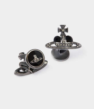 Vivienne Westwood Diamante Heart Cufflinks