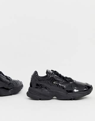 adidas Outloud Falcon sneakers in triple black