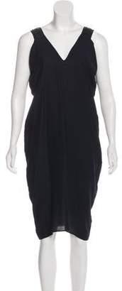 Zero Maria Cornejo Embellished Sleeveless Dress