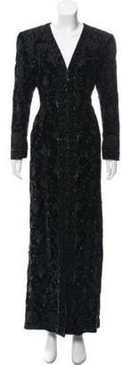 Oscar de la Renta Embellished Velvet Dress
