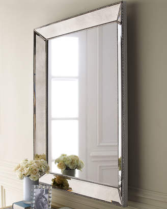 "Horchow Beaded Wall Mirror, 36.5""W"