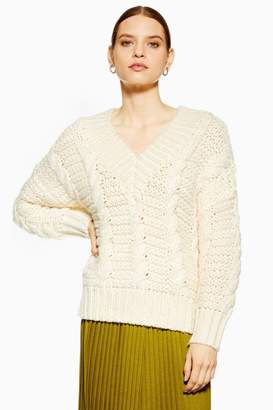 Topshop Heavy Cable Knitted Jumper by Boutique