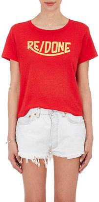 RE/DONE Women's Logo-Print Cotton T-Shirt $94 thestylecure.com