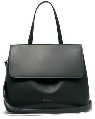 Mansur Gavriel Mini Lady Leather Cross Body Bag - Womens - Dark Green
