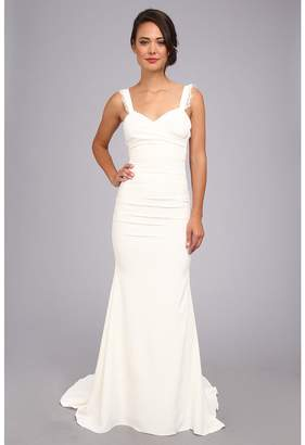 Nicole Miller Alexis Low Back Bridal Gown Women's Dress
