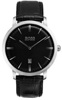 BOSS Analog Tradition Stainless Steel Leather Strap Watch