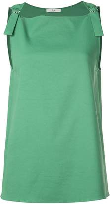 Tibi Chalky Drape sleeveless top