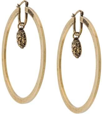 Versus logo pendant hoop earrings