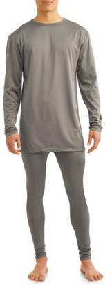 Generic Men's 2-piece microfiber fleece lined top and bottom