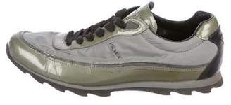 Tessuto Prada Sport Patent Leather Sneakers