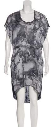 Rag & Bone Abstract Watercolor Printed Dress