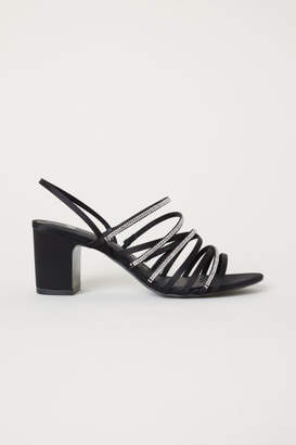 H&M Rhinestone Sandals - Black
