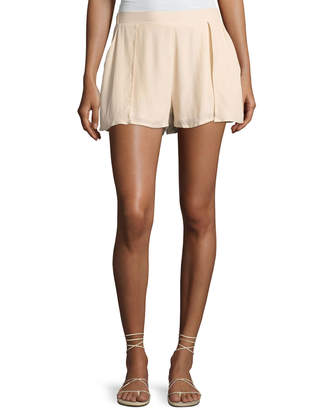 State of Being Ranger Layered Woven Shorts, Beige