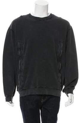 RtA Denim Crew Neck Double Zip Sweatshirt w/ Tags