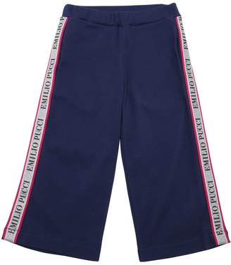 Emilio Pucci Flared Cotton Sweatpants W/ Logo Bands