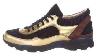 Chanel Woven Metallic Sneakers