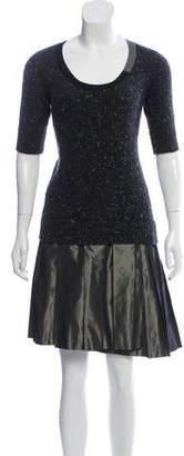 Sacai Knee-Length Sweater Dress