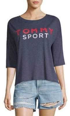 Tommy Hilfiger Logo Three-Quarter Top