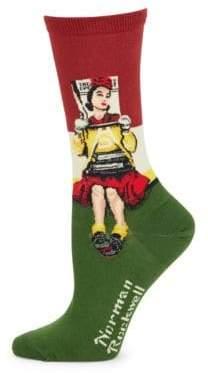 Hot Sox Norman Rockwell Socks