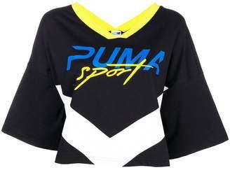 Puma Xtreme cropped V-neck T-shirt