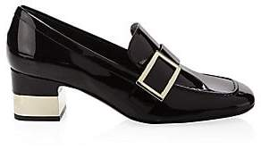Roger Vivier Women's Leather Buckle Loafers