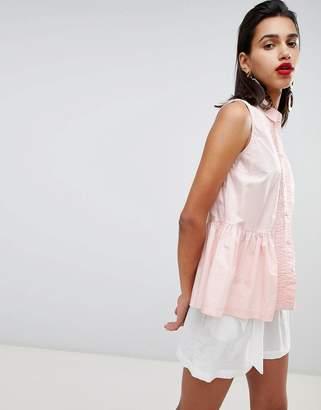 French Connection Neema Peplum Sleeveless Shirt