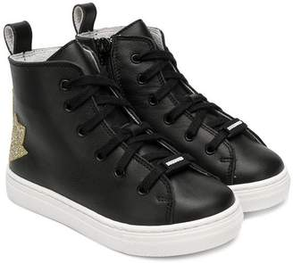 DSQUARED2 (ディースクエアード) - Dsquared2 Kids ankle lace-up sneakers