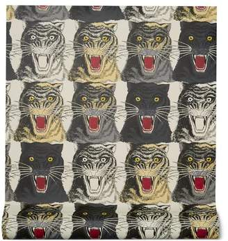 Gucci Tiger Face print wallpaper