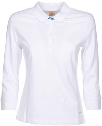 Fay Cropped Sleeved Polo Shirt