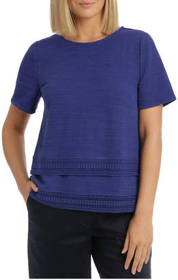 Regatta Short Sleeve Textured Trim Detail Top