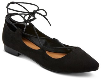 Mossimo Supply Co. Women's Kady Wide Width Ghillie Pointed Toe Lace Up Ballet Flats Mossimo Supply Co. $24.99 thestylecure.com