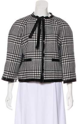 Christian Dior Wool Houndstooth Jacket