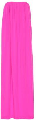 Calvin Klein Wool strapless column gown