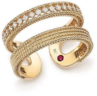 Roberto Coin 18K Yellow Gold Symphony Diamond Double Ring