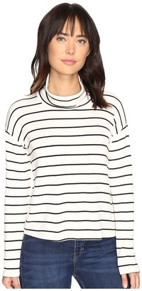 Splendid Dune Stripe Crop Turtleneck $128 thestylecure.com