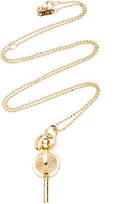 Monica Rich Kosann Carpe Diem Mini 18K Gold And Crystal Necklace