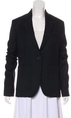 Rochas Notch-Lapel Button-Up Blazer